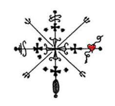 Baron Samedi (Lord of the Dead) Veve | baron_samedi_veve.jpg