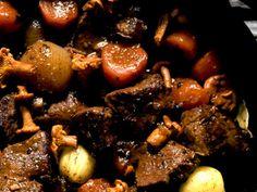 Swedish Recipes, Chutney, Pot Roast, Risotto, Stuffed Mushrooms, Healthy Eating, Meat, Fruit, Vegetables