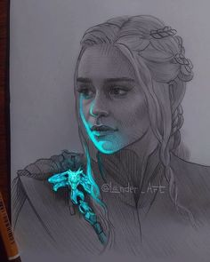 Pencil portrait by Daenerys, Mother of dragons! Art Game of Thrones Dessin Game Of Thrones, Game Of Thrones Drawings, Game Of Thrones Artwork, Pencil Art Drawings, Art Drawings Sketches, Cool Drawings, L'art Du Portrait, Pencil Portrait, Art Du Croquis