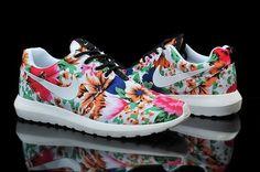 Nike Roshe Run WhiteFloreal!! NEW SUMMER 2015!!! Scarpe donna