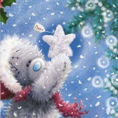 For You ♡ Tatty Teddy tjn Merry Christmas To All, Noel Christmas, Christmas Wishes, Christmas Pictures, Vintage Christmas, Christmas Crafts, Xmas, Illustration Mignonne, Illustration Noel