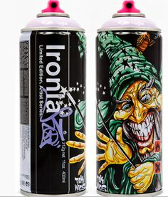 Here's another one Brunella Cataldi perfect for #Halloween #packaging. meks magic ironlak le limited edition can spray paint. PD