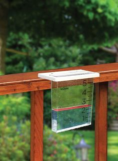 We love low-tech garden gear. This Waterfall Rain Gauge attaches to a deck or fence, making it easy to keep up with your local rainfall amount. A floating red marker and big digits are easy to see. No batteries and no wires means no worries!
