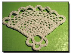 Fan crochet pattern....would be really cute in a frame with fabric behind it!