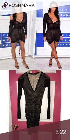 d52cea6fcabdb Kim K black mesh dress size small Kim K black Mesh dress Size Small. Worn
