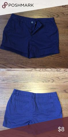 Faded Glory size 10 cotton shorts, periwinkle Blue Soft cotton shorts in size 10, dark periwinkle blue and very comfortable. Faded Glory Shorts