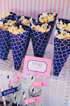 The Party Wagon - Blog - PREPPY PINK AND BLUE NAUTICAL PARTY.. Use the color that matches your party/ theme