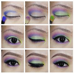fun and colorful makeup tutorial using Urban Decay's electric palette.
