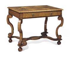 A WILLIAM AND MARY SEAWEED MARQUETRY, ROSEWOOD AND WALNUT CENTER TABLE -  POSSIBLY BY GERRIT JENSEN, CIRCA 1690-1700