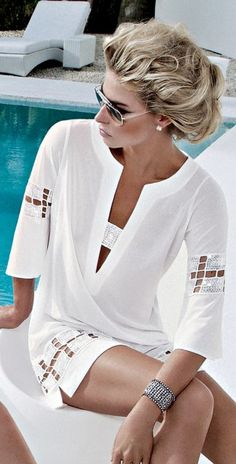 Maryan Mehlhorn 2013 Cape Grace White Tunic - more me but not super sexy $215