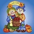 SCARECROW COUPLE WALL HANGING by DW 1/7