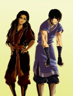 06 Wearing Each Other's Clothes: Zutara by ArtCrawl on deviantART