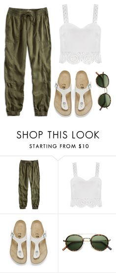 CHILL by angel534 on Polyvore featuring Lucky Brand, Birkenstock, Retrò, women's clothing, women's fashion, women, female, woman, misses and juniors