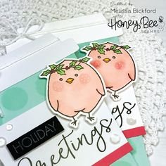 Holiday Greetings with Honey Bee Stamps