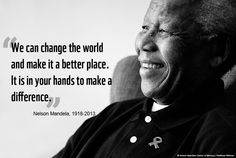 Today is a day to inspire change throughout the world, it's #MandelaDay.