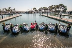 The Never Quit Challenge in 2014. A 600 mile endurance ride from Morro Bay to San Diego by jetski. It is a charity event with proceeds benefiting Phoenix Patriot Foundation, Marsoc, and the Station Foundation which are all grass root veteran support organizations with a  high degree of effectiveness. This was the team getting ready to ride out of a stop at Dana Point, Ca. http://neverquitchallenge.com/