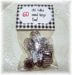 60th Birthday Printable Bag topperpartyfavor DIY by NCPrintables, $5.00