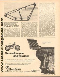 1972 Montesa Cota 247 / Gordon Farley on the famous Pipeline Section Motocross, Spanish, Dirt Biking, Spanish Language, Dirt Bikes, Spain