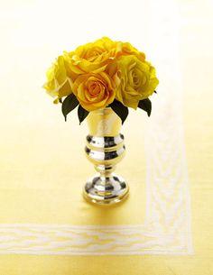 yellow rose crepe paper flowers