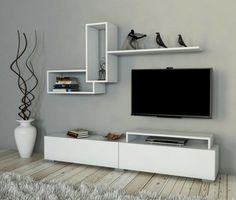 How and where to make a modern TV cabinet design? Modern Tv Cabinet, Modern Tv Wall Units, Tv Wall Cabinets, Living Room Cabinets, Tv Unit Decor, Tv Wall Decor, Tv Wanddekor, Tv Unit Furniture Design, Living Room Tv Unit Designs