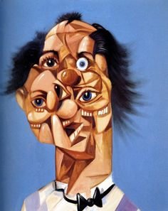 http://www.boumbang.com/condo-george/ © George Condo, Jean Louis Mind, huile sur toile 45x38 cm 2005