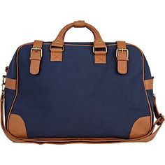 navy and tan holdall - holdalls - bags / wallets - men - River Island