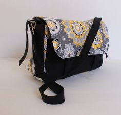Stroller pram caddy diaper nappy bag Grey Yellow by Tracey Lipman, $48.00