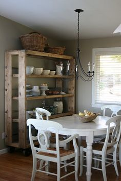 like the shelving - would be great in storeroom for canning etc