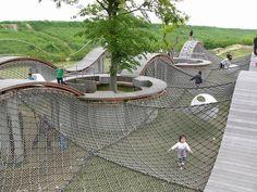 Public Space Park Playground, Playground Design, Outdoor Playground, Cool Playgrounds, Public Space Design, Outdoor Learning, Parking Design, Space Architecture, Urban Planning