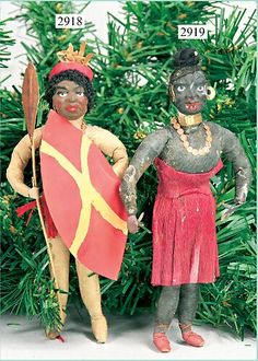 Cotton tribal figures Glass Ornaments, Christmas Tree Ornaments, Antique Christmas, Christen, Victorian Era, Paper Dolls, Make Me Smile, Fun Crafts, Statue