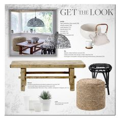 """""""Get The Look"""" by cruzeirodotejo ❤ liked on Polyvore featuring interior, interiors, interior design, home, home decor, interior decorating, Bloomingville, NOVICA, Höganäs Ceramic and Home"""