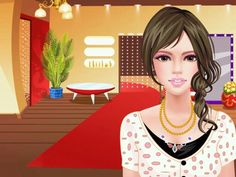 She is dressed up like an average girl. Like i said this game is addicting. :-) :-) :-) :-)