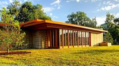 Frank Lloyd Wright's Usonian House Built 74 Years After it Was Designed #architecture