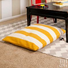 Add cozy comfort with these DIY floor cushions.