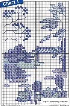 in blu 2 Cross Stitch Tree, Cross Stitch Alphabet, Cross Stitch Charts, Cross Stitch Designs, Cross Stitch Patterns, Cross Stitching, Cross Stitch Embroidery, Embroidery Patterns, Subversive Cross Stitches