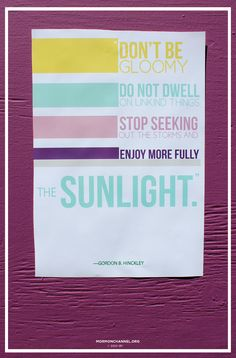 Stop seeking out the storms and enjoy more fully the sunlight!  #God #LDS #Mormon