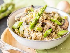 Wenn dein Quinoa zu Risotto wird! One Pot Quinoa mit Spargel