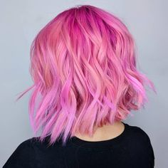 @hairbymarielle is the artist... Pulp Riot is the paint. #pulpriothair #hair #haircolor #hairstyle #pink #beauty #shorthair