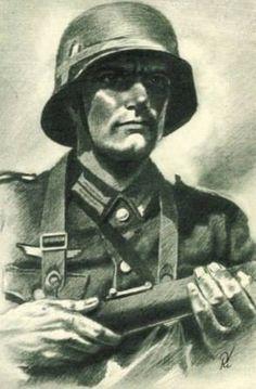 derhenker: Die Wehrmacht soldier by ~c18flo