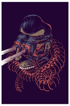 These wonderfully bizarre illustrations of deconstructed heads are by Mexican street artist Smithe.