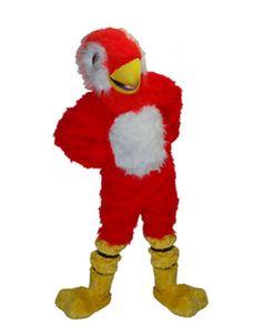 Luxe mascotte rode papegaai. Een gave luxe rode papegaai met een wit buikje, staartje en wangetjes en gele pootjes en snavel. Deze luxe mascotte papegaai is voorzien van een luchtcirculatiesysteem. Voor meer luxe mascottes kunt u ook terecht in deze shop.