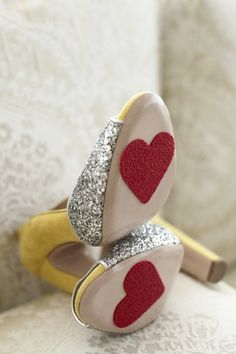I am doing this to my daughters' princess shoes! Can't wait to tame the clickety-clacking!
