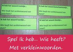 Verkleinwoorden - KlasvanjufLinda.nl - vol met leuke lesideeën en lesidee