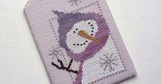 Ёлочная игрушка - подвеска в лилово-фиолетовых тонах. Сюжет Old Man Winter от Val's Stuff.