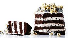 Triple-Stuffed OREO Cake Recipe. OREOs are Little Mr. C's fav. This might have to be on my to-do list in the near future.