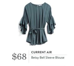 This might be cute on. I like the idea of the bell sleeves, but not sure how it would actually look on me.