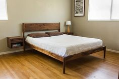 Danish Mid Century Modern Bed by PeteDeebleFurniture on Etsy $2,100.00