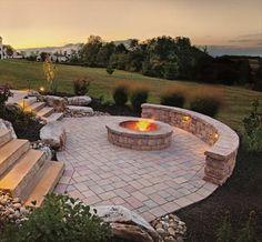 Beautiful fire pit patio