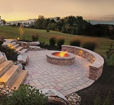 Beautiful fire pit patio
