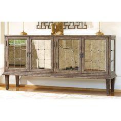 Hooker Furniture Melange DeVera Mirrored Credenza | from hayneedle.com